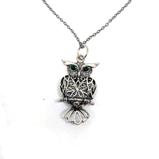Owl Green Eye Necklace