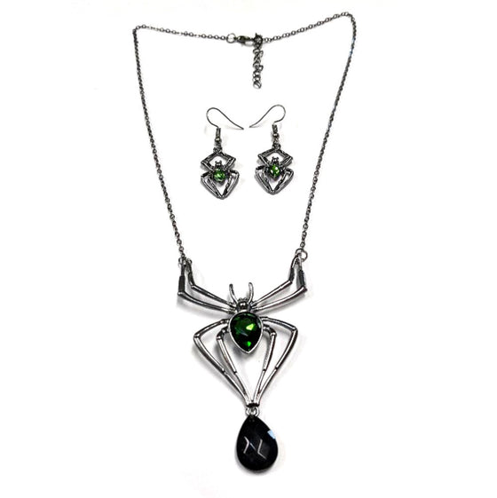 Venomous Vixen Spider Necklace Set
