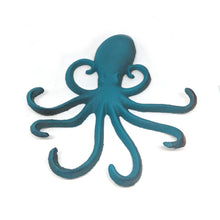 Octopus Wall Hanging Iron Small Turquoise