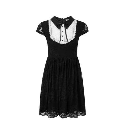 Black and Ivory Lace Babydoll Dress