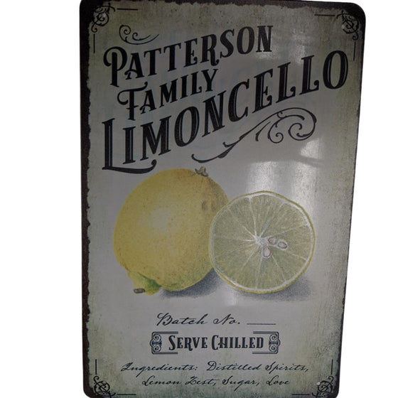 Metal Sign Limoncello