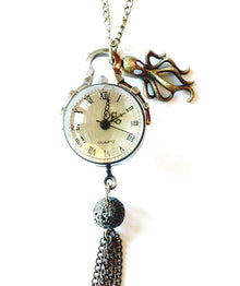 Octopus Crystal Ball Watch Neklace