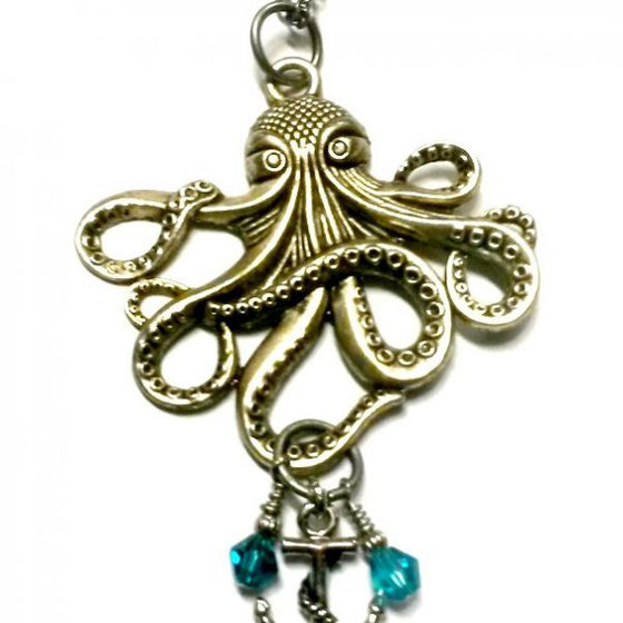 Octopus Crystal Necklace