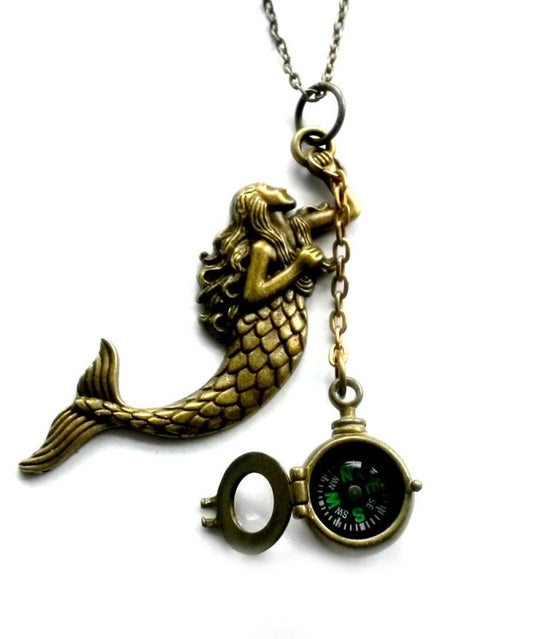 Mermaid Compass Necklace