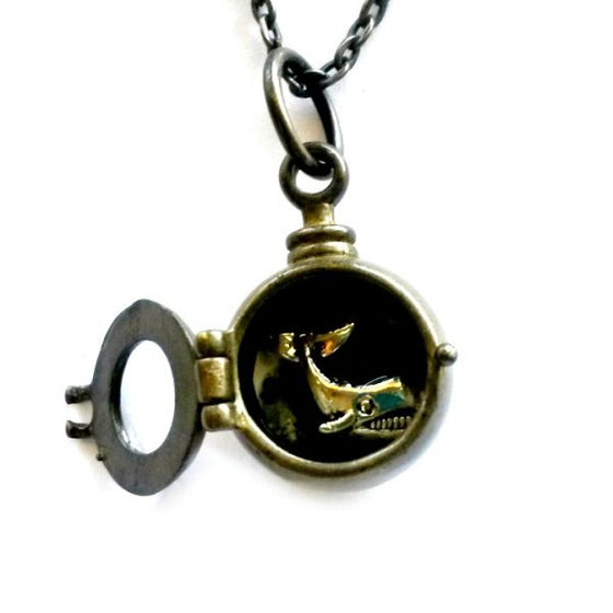 Whale Porthole Necklace