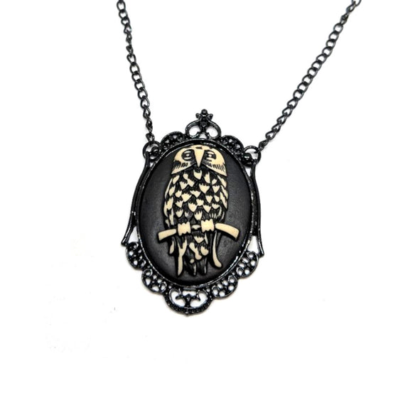 Owl Cameo Necklace