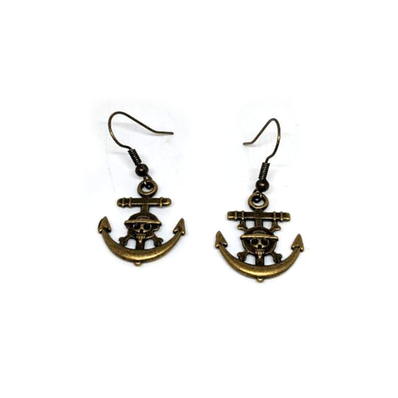 Brass Steampunk Anchor Earrings