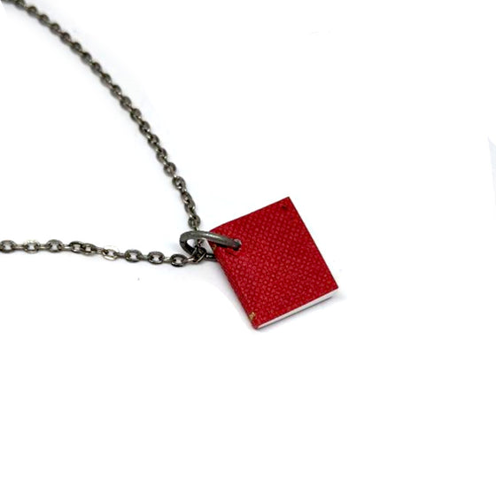 Mini Red Journal Book Necklace