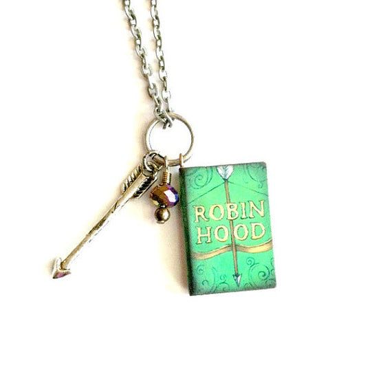 robinhood Mini Book Necklace