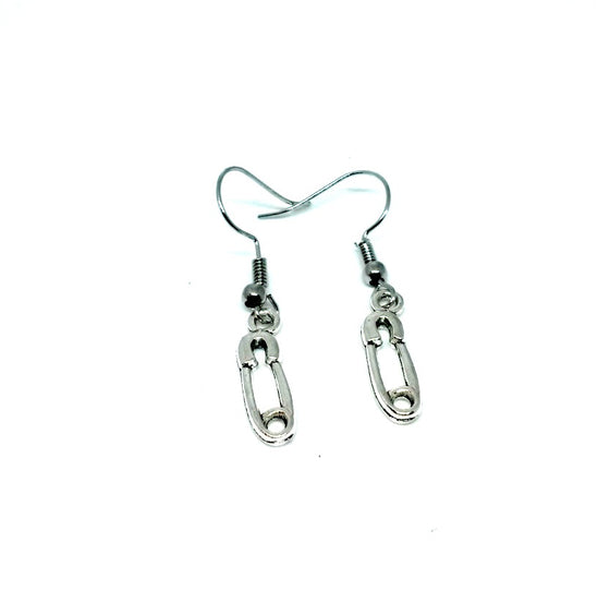 Safety Pin Dangle Earrings