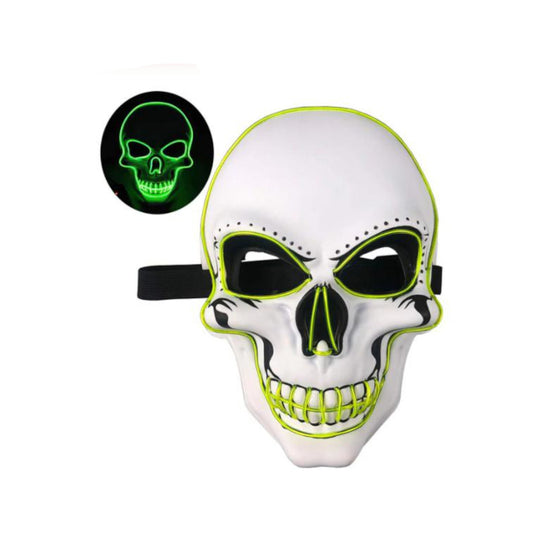 Skeleton LED Mask Yellow-Green