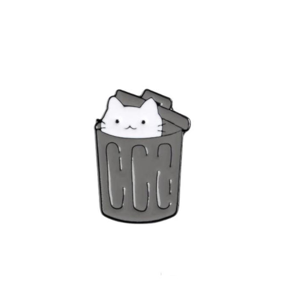 Trash Cat Tack Pin