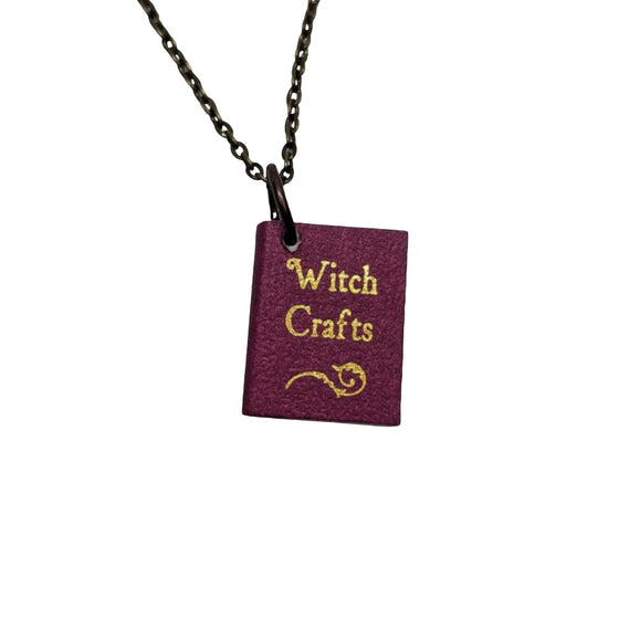 Witch Crafts Books Necklace