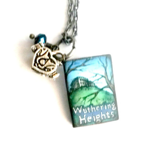 Wurthering heights mini book necklace