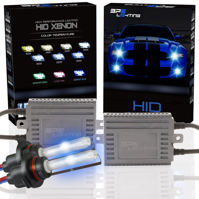 9004 Silver Series 55W HID Xenon Headlight Kit 4300K to 12000K