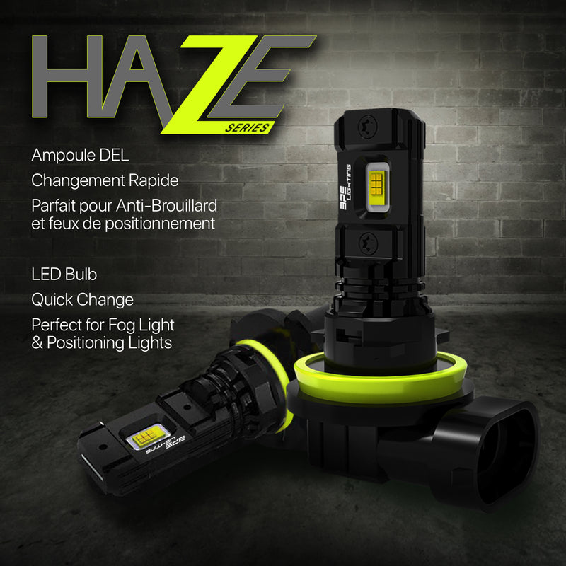 Haze Series LED Bulbs H9 3000 Lumens