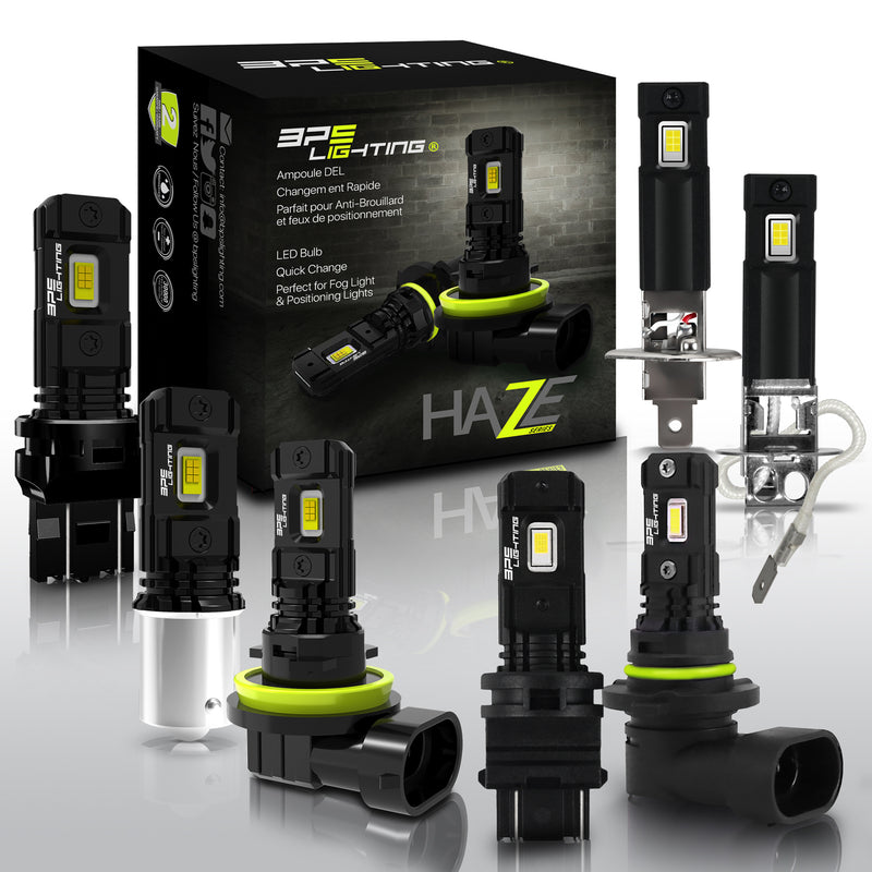 Haze Series LED Bulbs H8 3000 Lumens