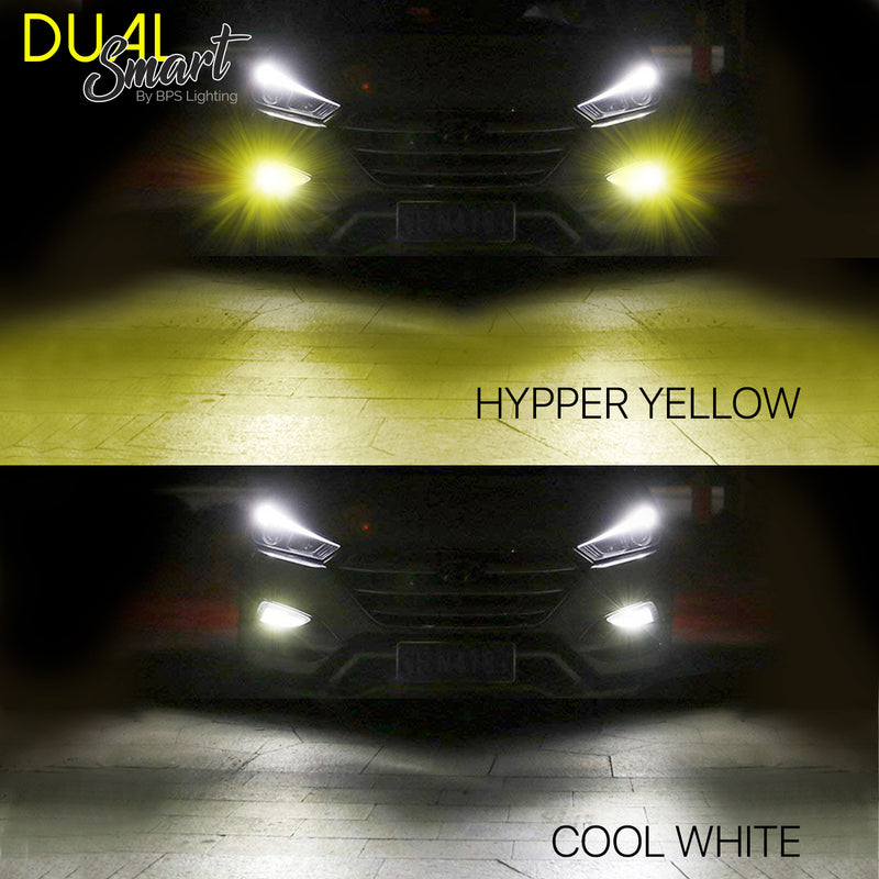 9005 / HB3 D2 Series Dual Colors LED Headlight Bulbs 8000 Lumens