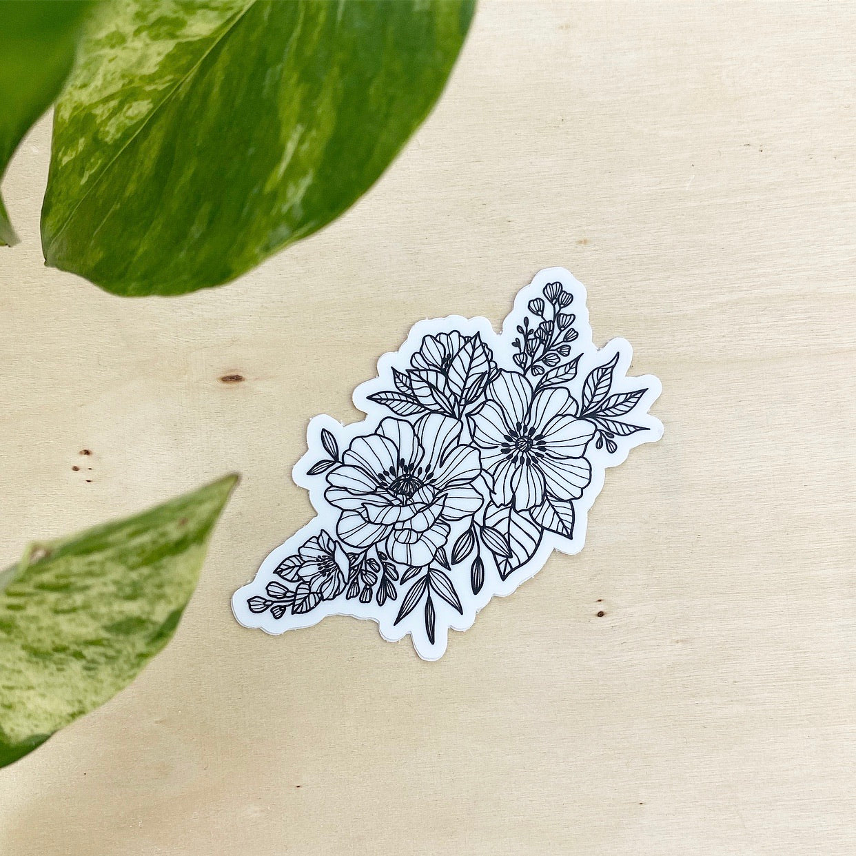 Floral Piece - vinyl sticker