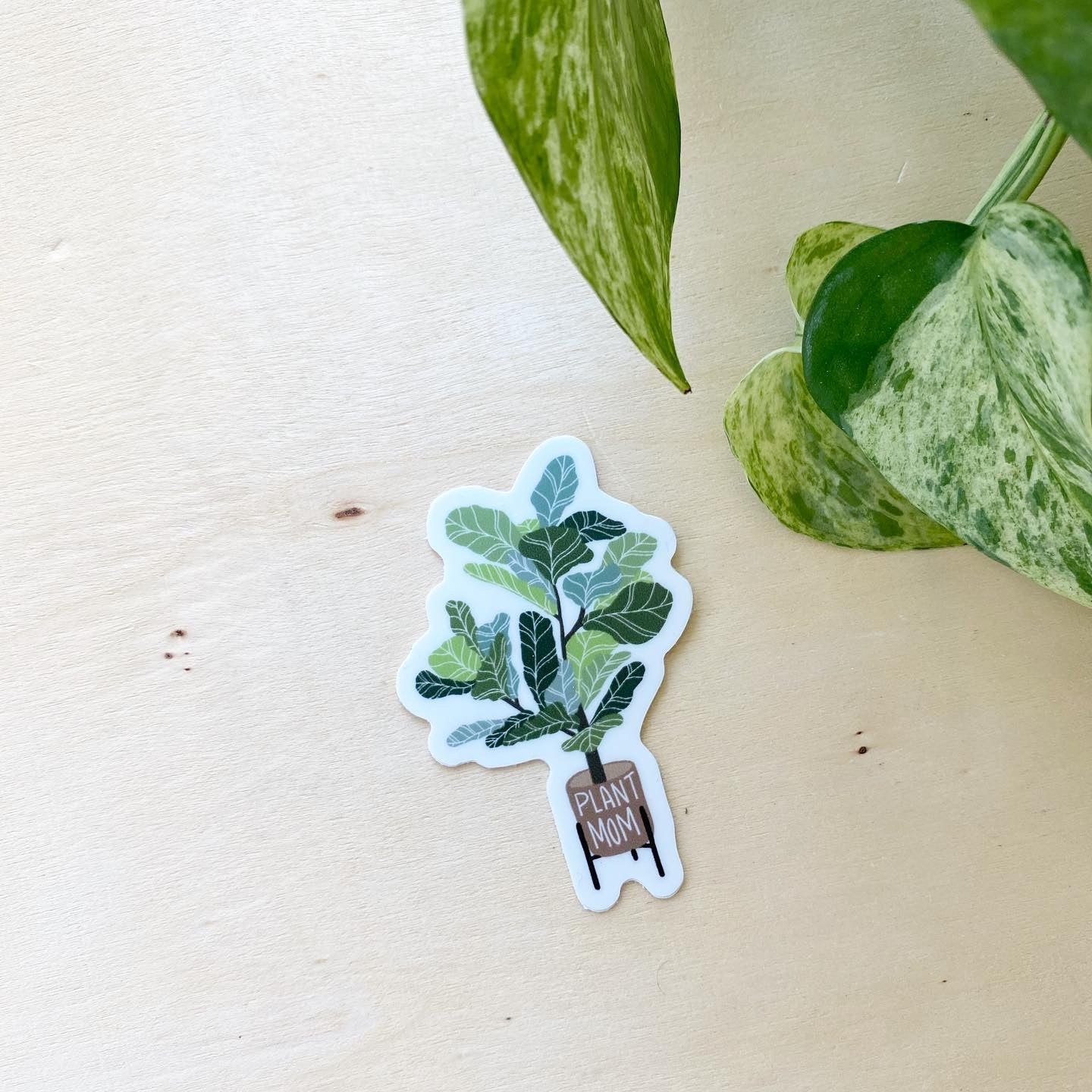 Fiddle Leaf Plant Mom- vinyl sticker