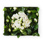 Luxury floral gift box with gardenia stem and eggs