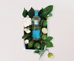 Casa Dragones Tequila Gift Box with Limes Jalapenos and Gardenias