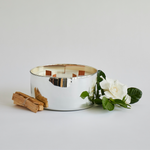 Five wick luxury silver candle and palo santo