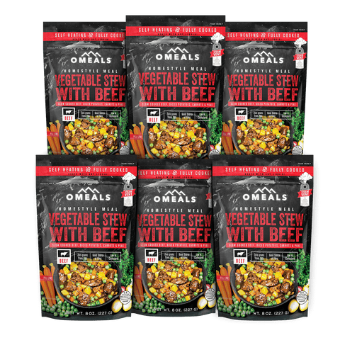OMEALS Vegetable Stew w/Beef 6 pack