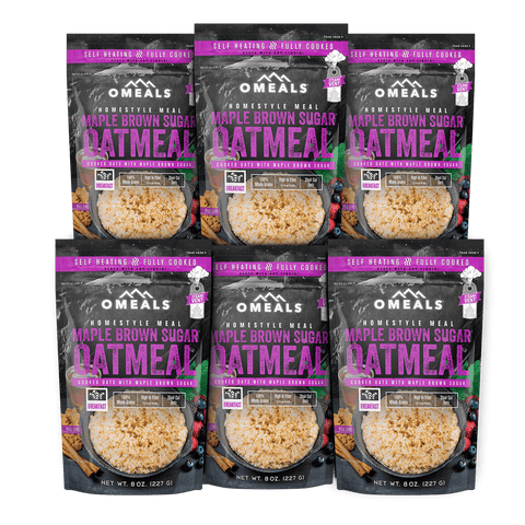 OMEALS Maple Brown Sugar Oatmeal 6 pack