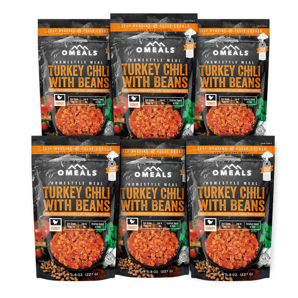 OMEALS Turkey Chili 6 pack