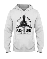 Flight Line Design Branded Hoodie (Light)