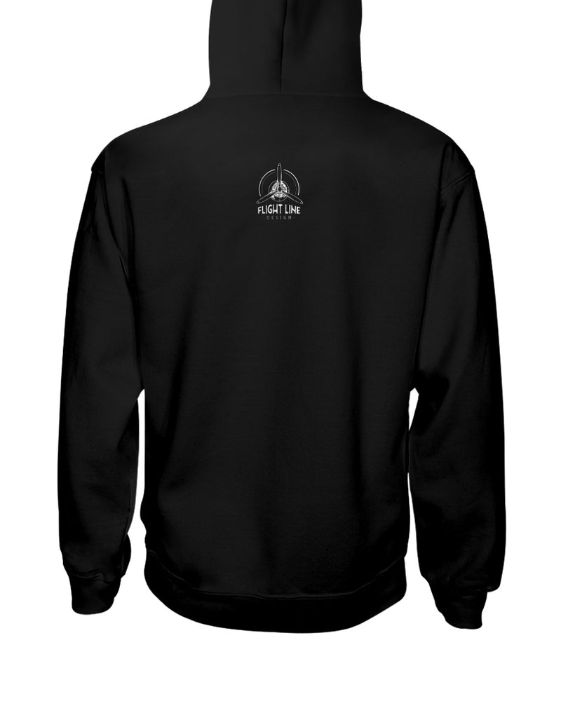 Flight Line Design Branded Hoodie (Dark)
