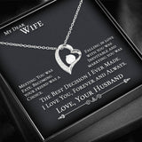 Dear Wife Meeting You Was Fate - Heart Necklace For My Wife