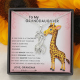 From Grandmother to Granddaughter Love Giraffe Special Necklace with The Message Card