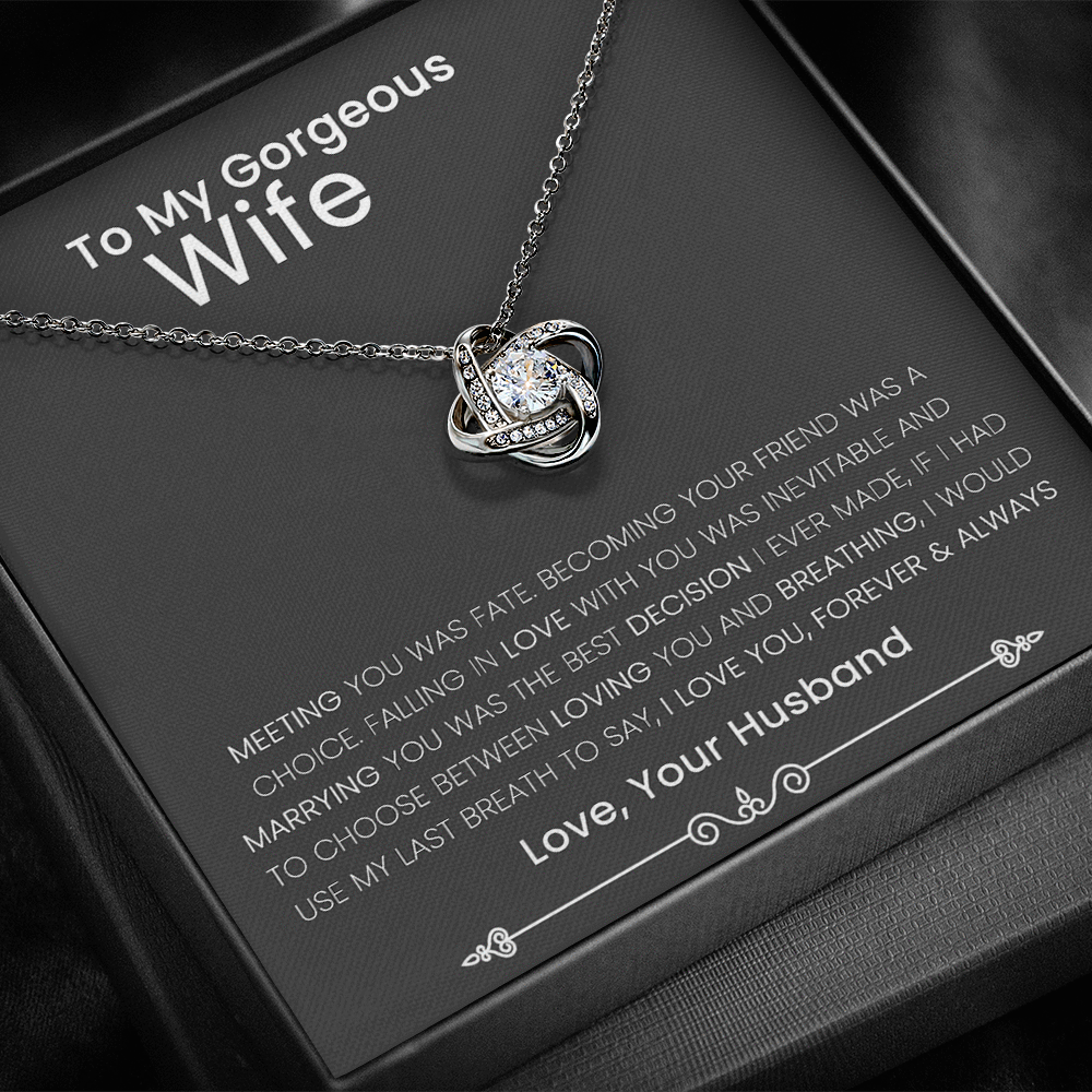 Love Knot Necklace - Love You Forever