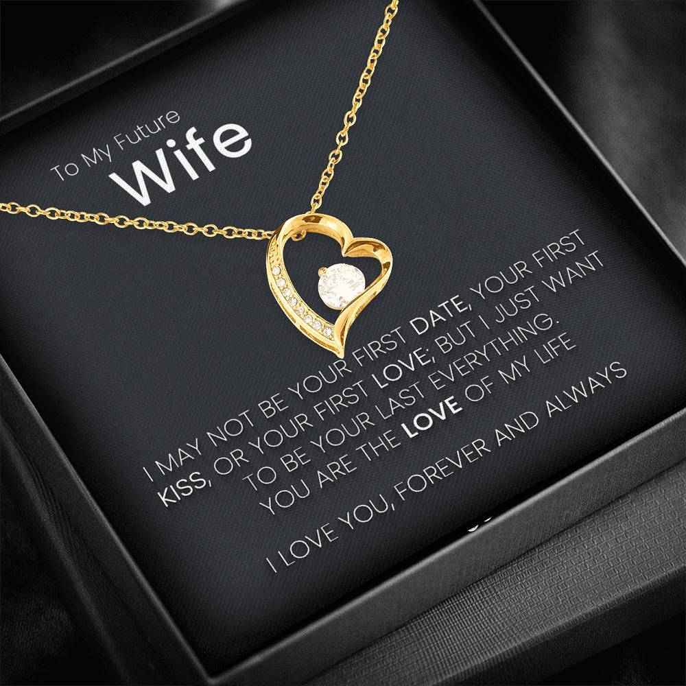 Future Wife - I Love You Forever And Always Heart Necklace