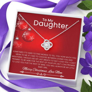 From Mom To Daughter Christmas Necklace