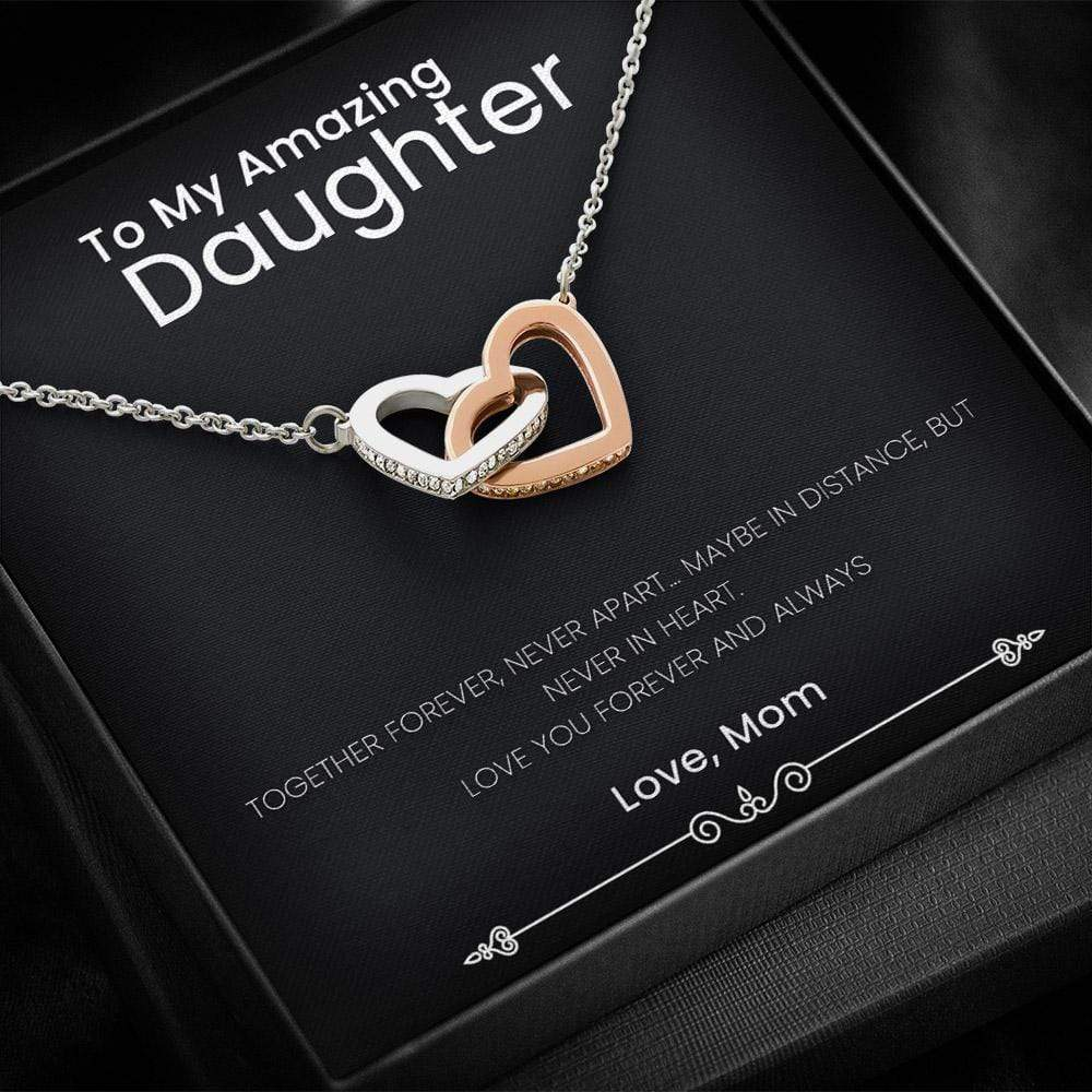 From Mom To Daughter Necklace With A Heart Melting Message