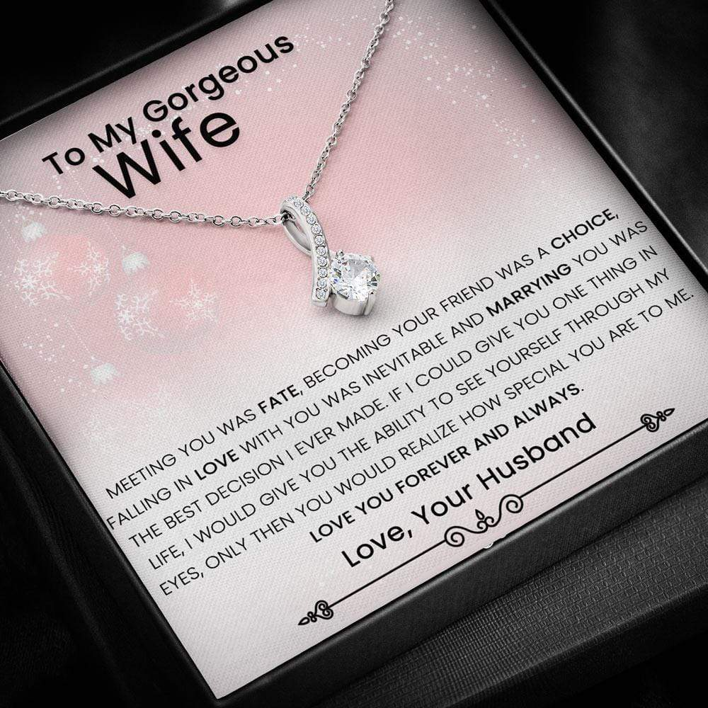 Love You Forever And Always Allure Necklace For Wife