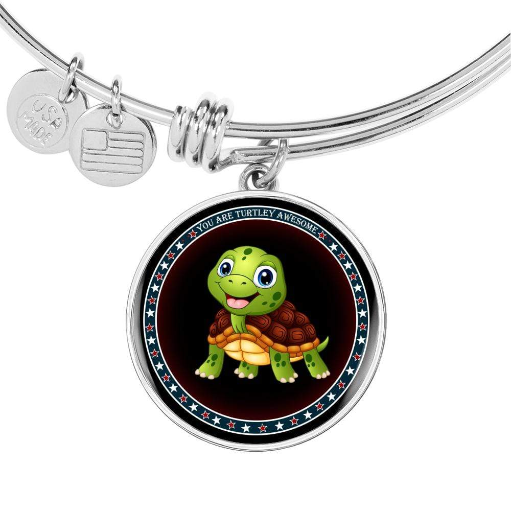 "Luxury Bangle with ""You Are Turtley Awesome Pendant"" - Limited Edition"