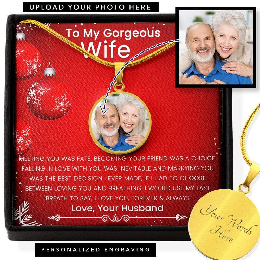 Husband To Wife Pendant Necklace With Your Picture To Personalize It This Christmas