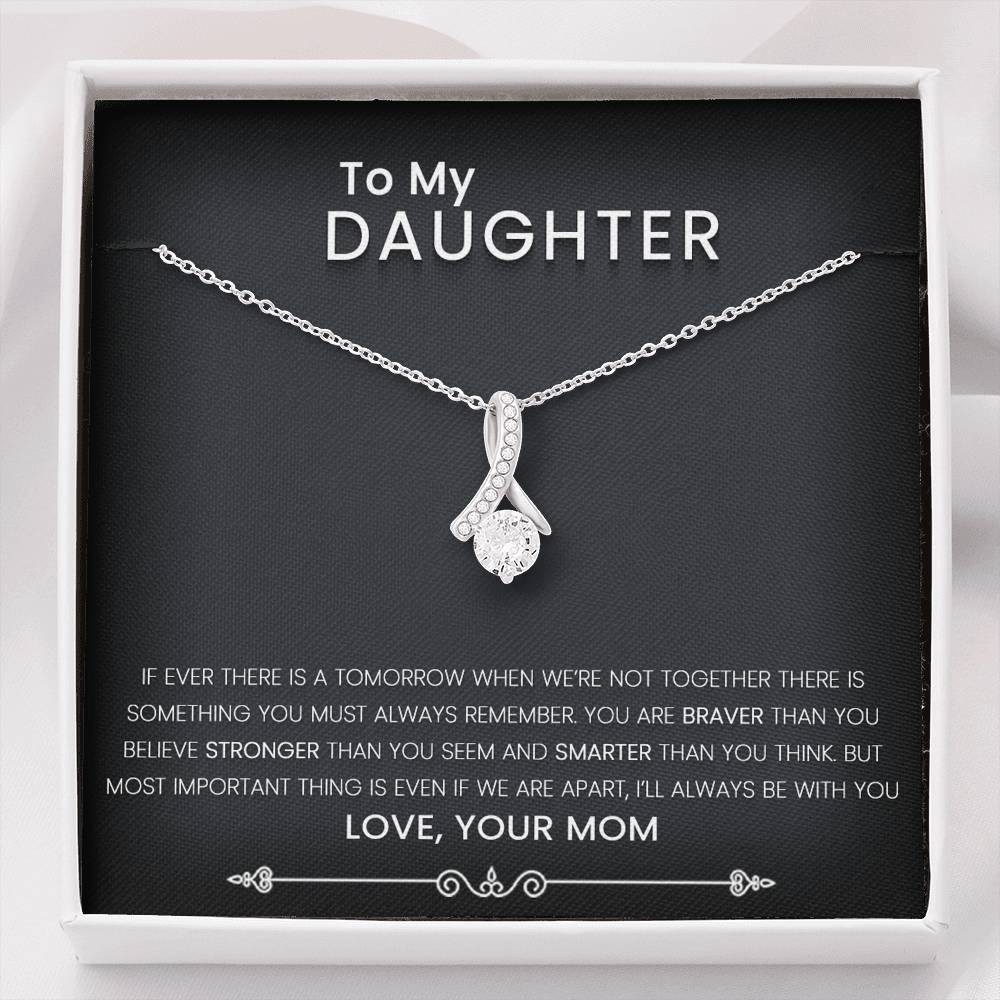 Mom To Daughter Allure Necklace with A Message Card Ready For Gifting