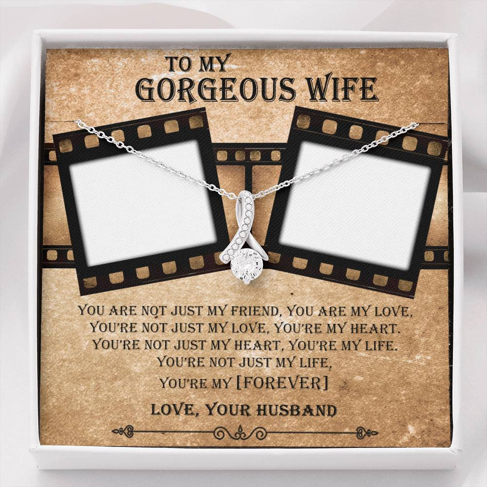 Personalized Gift For Wife - You Are Not Just My Friend You Are My Love Forever