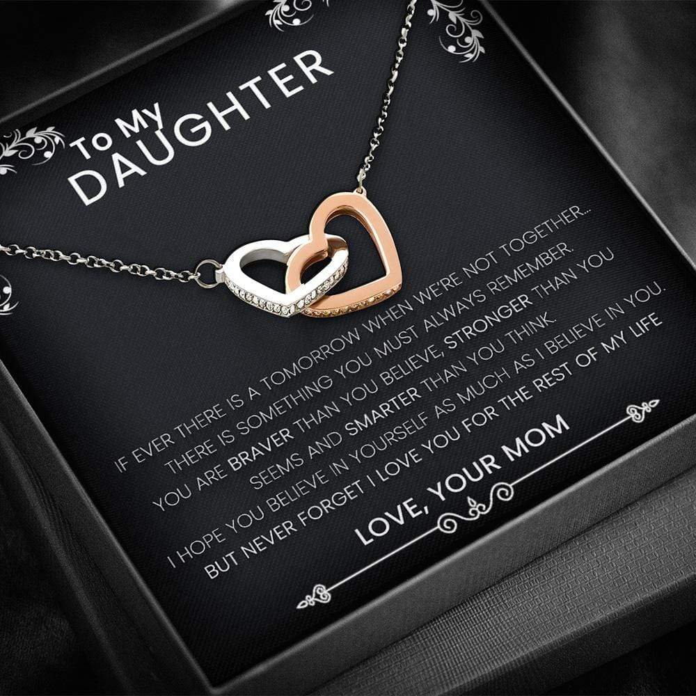To My Daughter From Mom - Heart Necklace with a Heart Melting Message Card