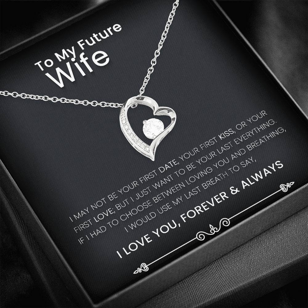 To My Future Wife Forever Love Heart Necklace