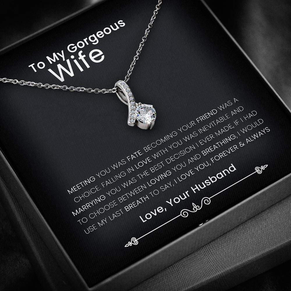 To My Wife - Meeting You Was Fate Alluring Limited Edition Pendant Necklace