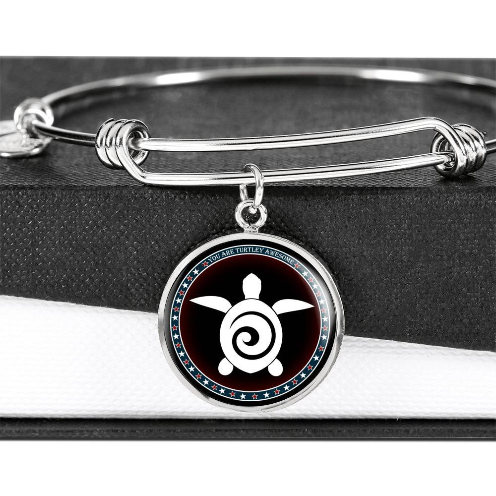 """You Are Turtley Awesome"" - Luxury Bangle with Pendant - Limited Edition"