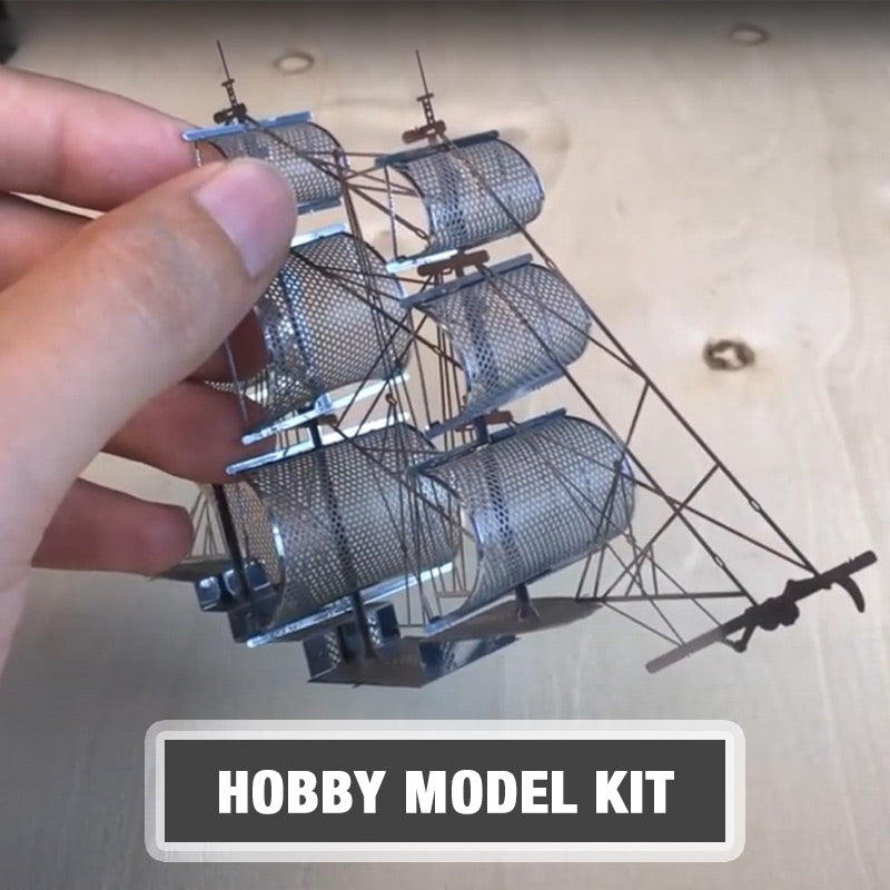 Metal Black Pearl Pirate Ship Model