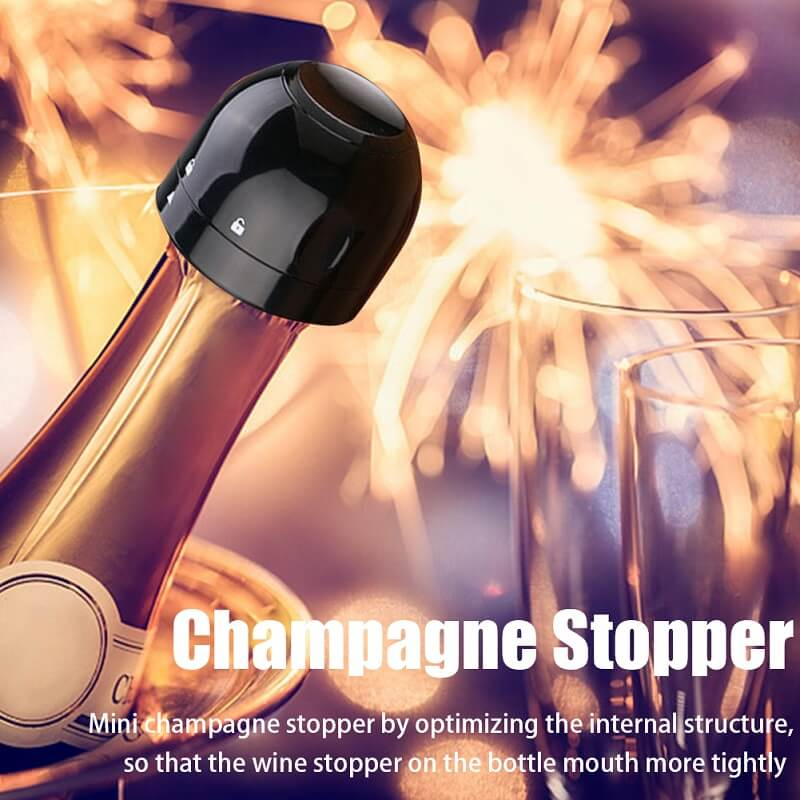 Silicone Sealed Champagne Stopper