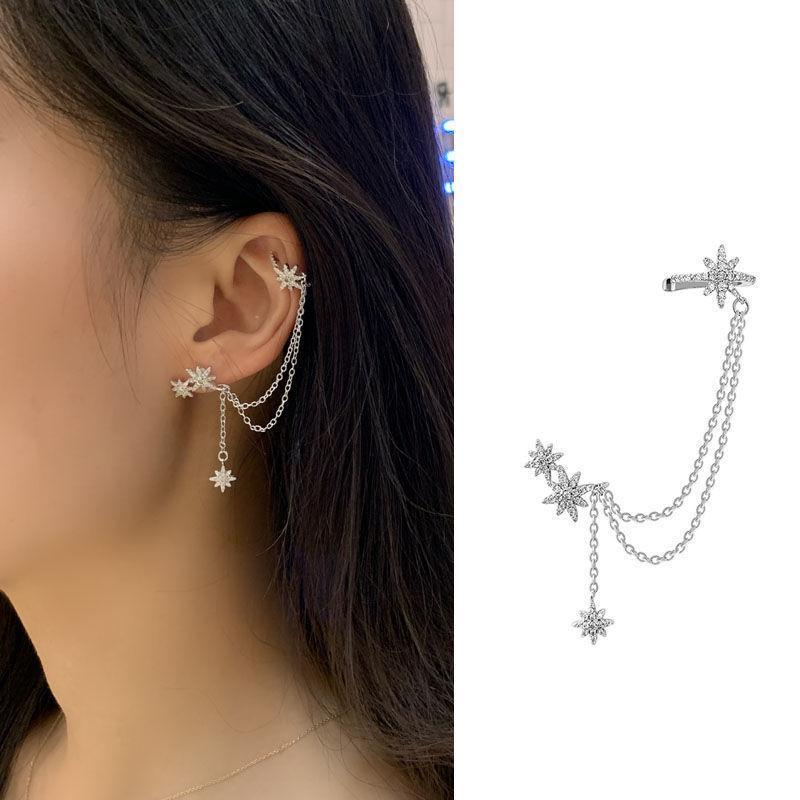 Fashion Star Cuff Earring Chain
